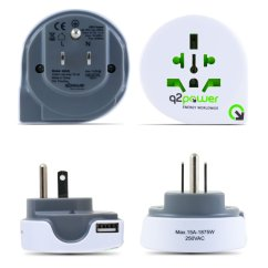 Plug Power Q2 Car Work Light Wiring Diagram World To Usa All In One Travel Adapter With Usb Port