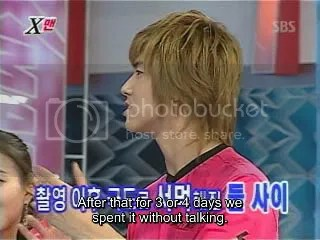 Yunho says he did'nt talk to JJ for quite a while after the embarrassing hug scene in the Banjun drama.
