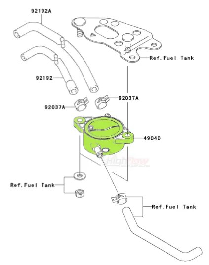 Kawasaki Brute Force Fuel Pump 2005-2016 KVF650 KVF750