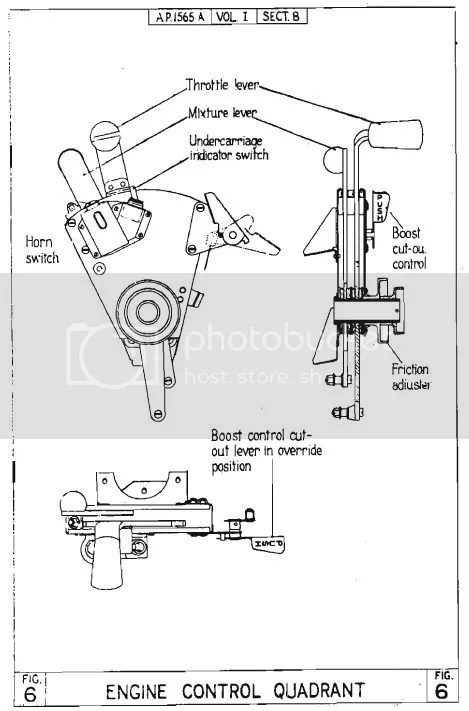 Spitfire I Throttle : U/C Horn Cancel unit