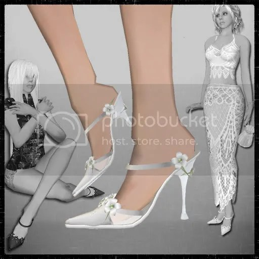 White Spring Stilettos