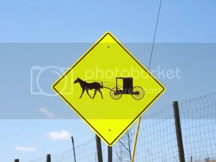 Amish Crossing Sign