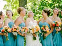 Real Wedding: Bright and Bold with Turquoise and Orange ...