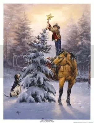 Christmas Star with Cowboy and horse