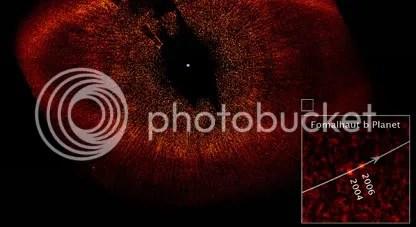 Hubble image of Fomalhaut b