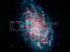 M33 ultraviolet and infrared