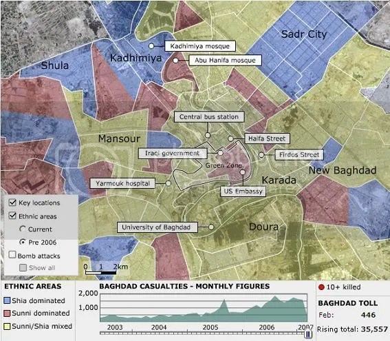 Mapping the violence in Baghdad | the human province
