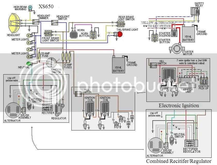 Xs650 Wiring Diagram Blinkers 78 Xs650 Wiring