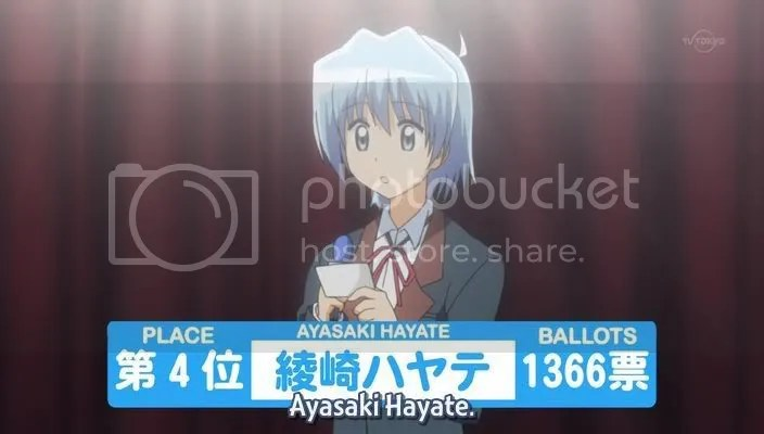 4th Place - Ayasaki Hayate. The only male entry... though he looks like a girl anyway.