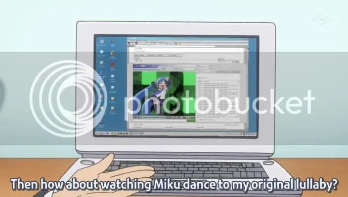 Its just Konata cosplaying as Miku...