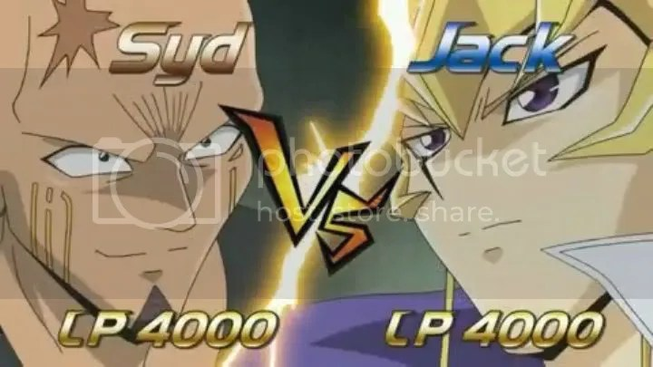 The obligatory VS screen! Jack vs Syd!