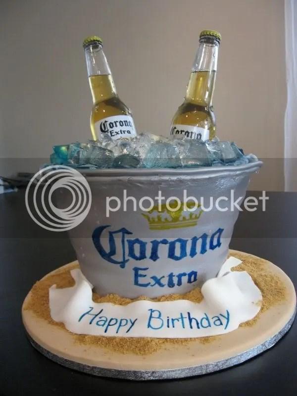 pastel cerveza corona extra