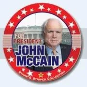 Mc Cain button