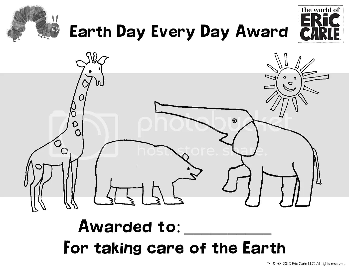 Free Eric Carle Earth Day Printable Activities