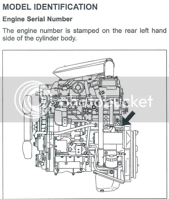 4JJ1 / 4JX1 Engine Identification location