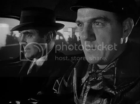 Chasing shadows - Tyrone Power and Karl Malden in Diplomatic Courier.