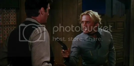Kirk Douglas displaying his mean streak in Man Without a Star.