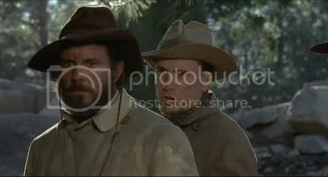 The thinker and the zealot - Robertson and Duvall as Cole Younger and Jesse James