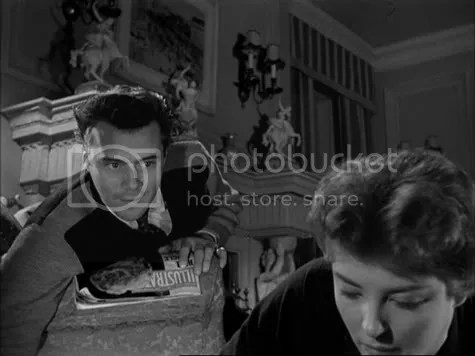 Showing claws - Dirk Bogarde in The Sleeping Tiger.