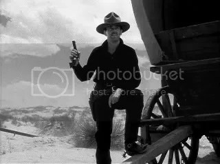 Wyatt Earp (Henry Fonda) calling the shots at the OK Corral.