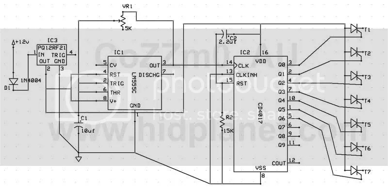 Analog Sequential LED Turn signal parts list and diagram