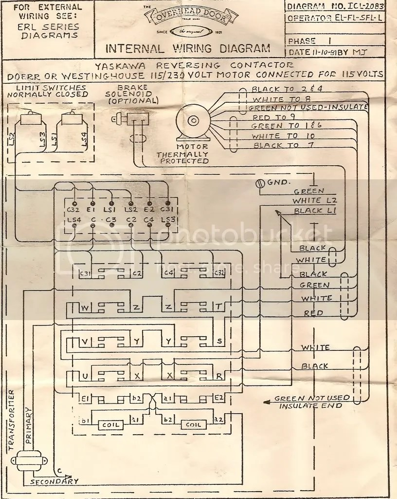 hight resolution of wiring diagram 120 volt commercial overhead opener for