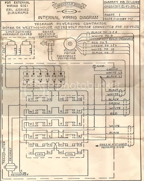 small resolution of wiring diagram 120 volt commercial overhead opener for
