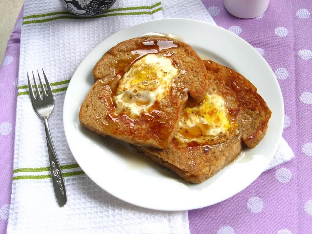 Eggs in a French Toast Basket | Willow Bird Baking