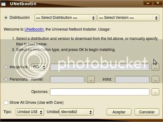 unetboot2 UNetbootin - No gastes un CD para instalar Ubuntu 8.10