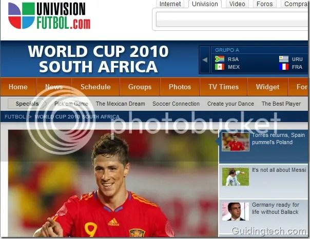 univisionfutbol Los 10 mejores sitios para ver el mundial por internet