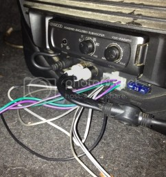 we were gonna check if the aux cables were even hooked up but ran out of time the model is kenwood ksc wa82rc if that helps and here is the way it sits  [ 768 x 1024 Pixel ]