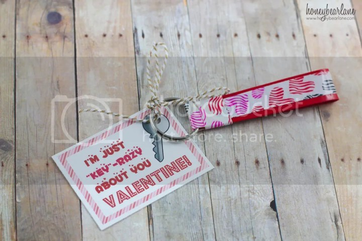 Kids Valentines duck tape keychains