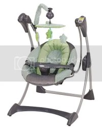 Graco Silhouette Baby Swing Laguna Bay ~ Great Swing!