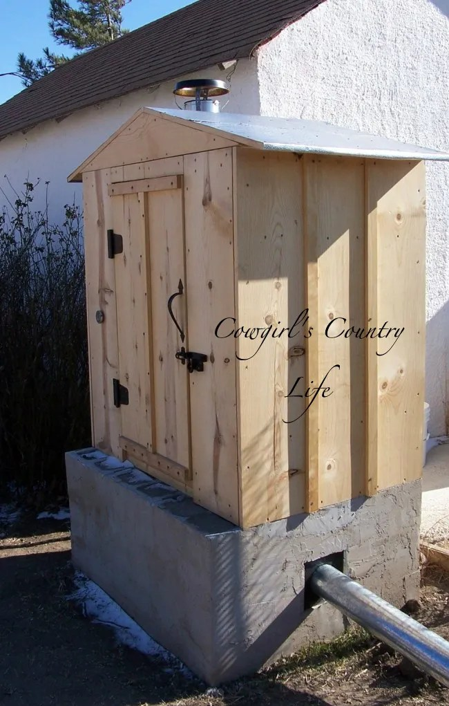 Cowgirl's Country Life Building A Cold Smoker Smokehouse