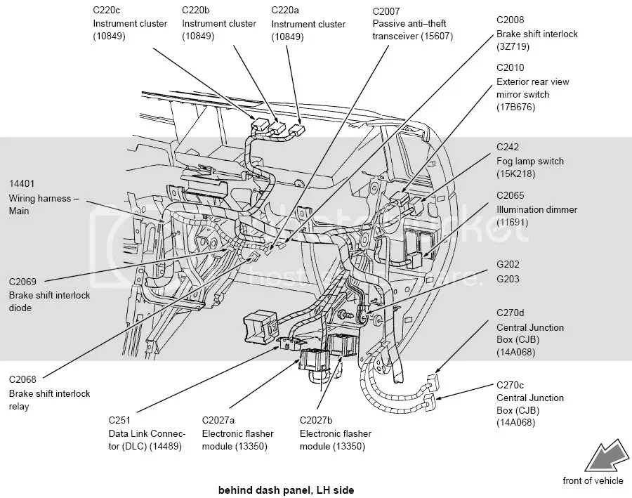 2001 Ford Escape Wiring Diagram Manual Original