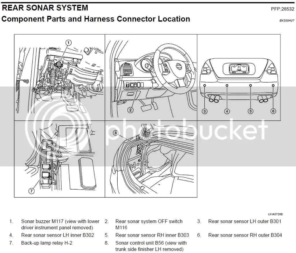 Technical Problem: Backup Sensor Buzzer Location