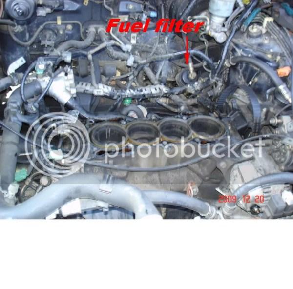 2002 honda odyssey fuel filter location