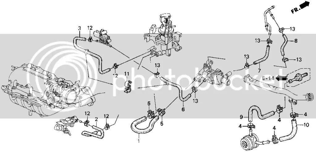 Honda Civic Radiator Flow Diagram, Honda, Free Engine