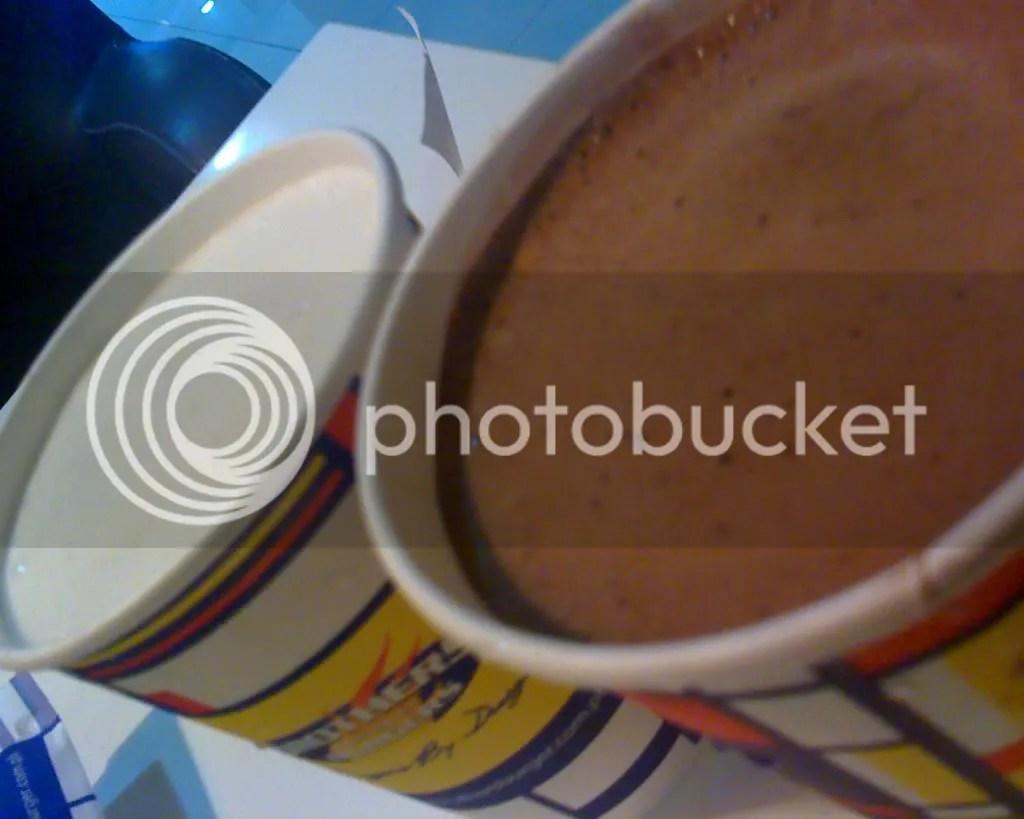Vanilla and Chocolate Milkshake