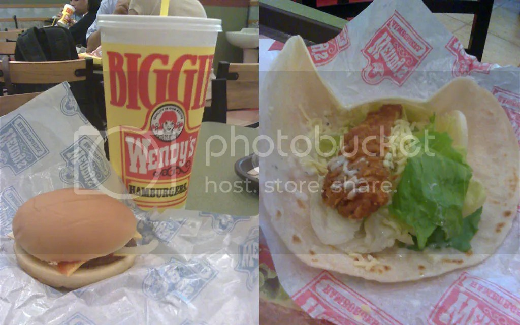 Cheese Burger and Chicken Go Wraps