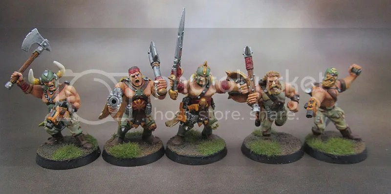 Kitbashed Close Combat Chaos Cultists