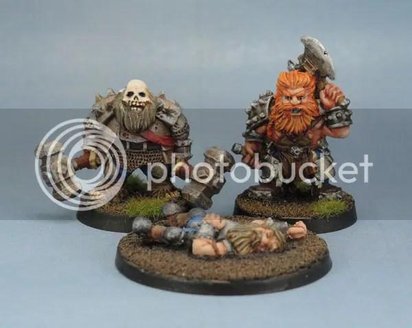 Stonehaven Undead Dwarf, Berserker Dwarf and Unconscious Dwarf