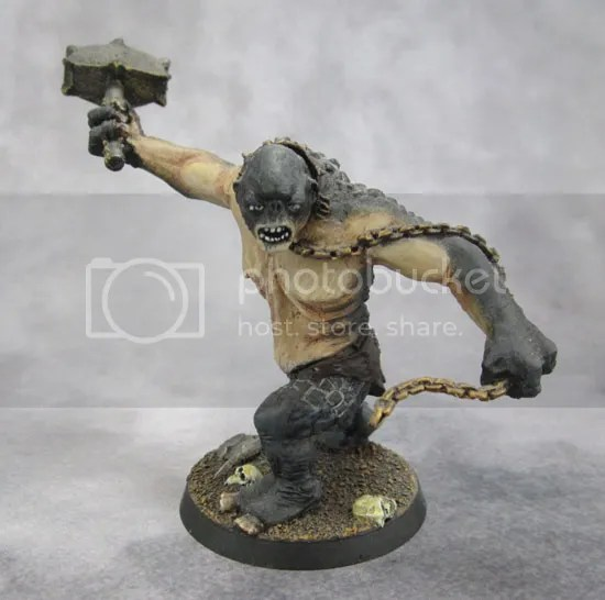 Citadel Moria Cave Troll with chain and hammer