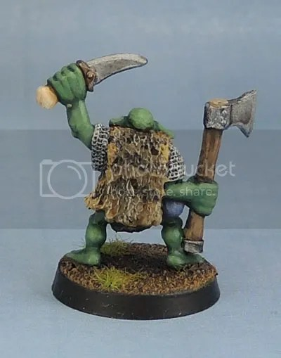 Orc with Axe and Dagger 1, Oldhammer, Kev Adams