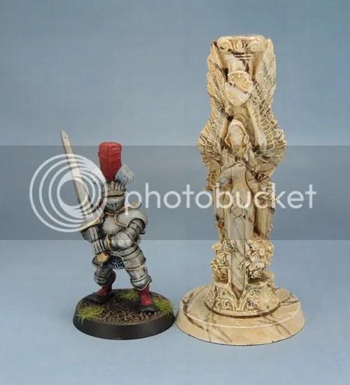 Reaper Bones 77246: Pillar of Good with Citadel Reiksgard for scale.
