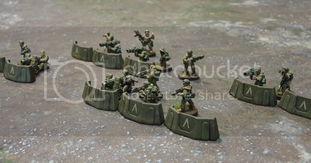 Sedition Wars Terrain Set Barricades, Metal Cadian Imperial Guard