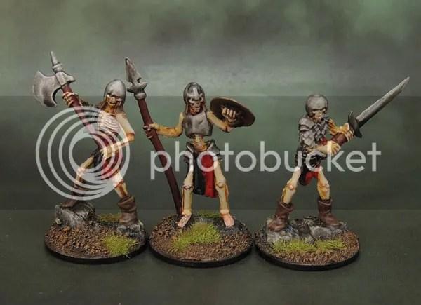 Reaper Bones 77239 Skeleton Guardian Spearman, 77240 Skeleton Guardian Sword, 77241 Skeleton Guardian Axeman