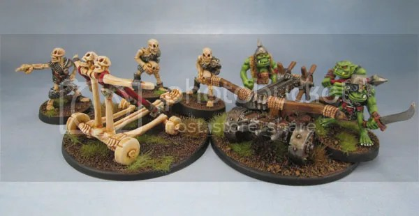 MD8 Skull Chucker, Oldhammer Undead, Skeleton War Machines, C22 Orc Bolt Thrower, Oldhammer Orcs