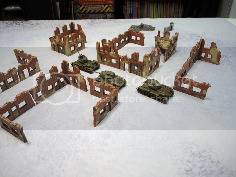 Urbanmatz' 6'x4' Snow Territory Game Mat, Bolt Action
