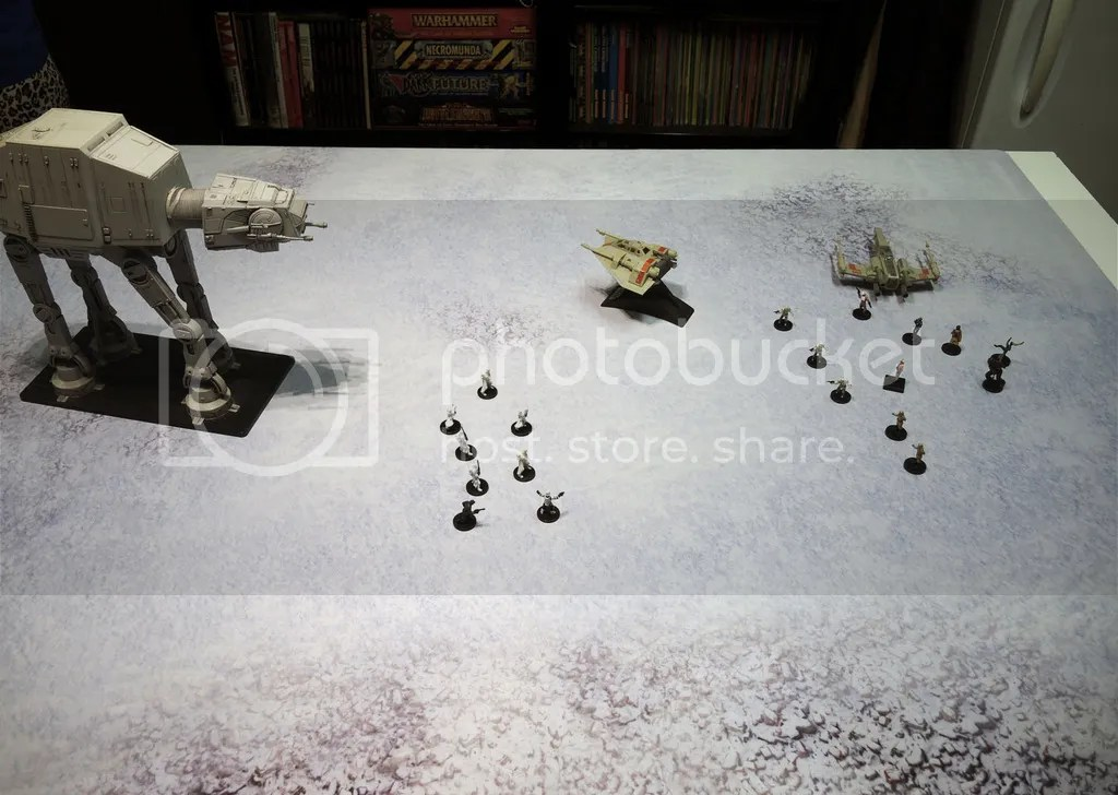 Urbanmatz' 6'x4' Snow Territory Game Mat. Star Wars Miniatures